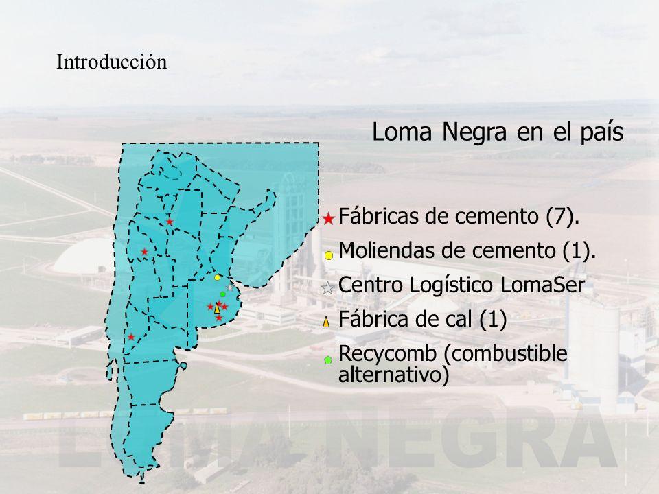 Loma Negra en el país Introducción Fábricas de cemento (7).