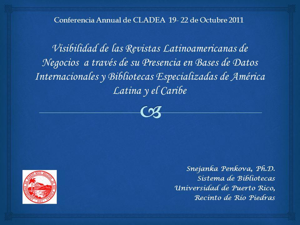Conferencia Annual de CLADEA 19- 22 de Octubre 2011