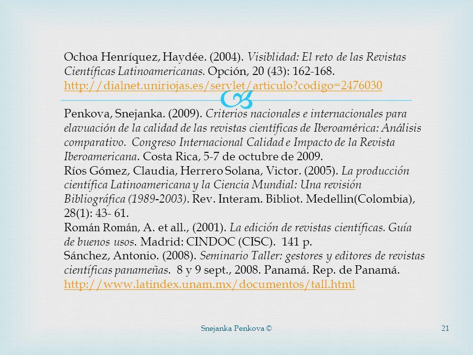 Ochoa Henríquez, Haydée. (2004)