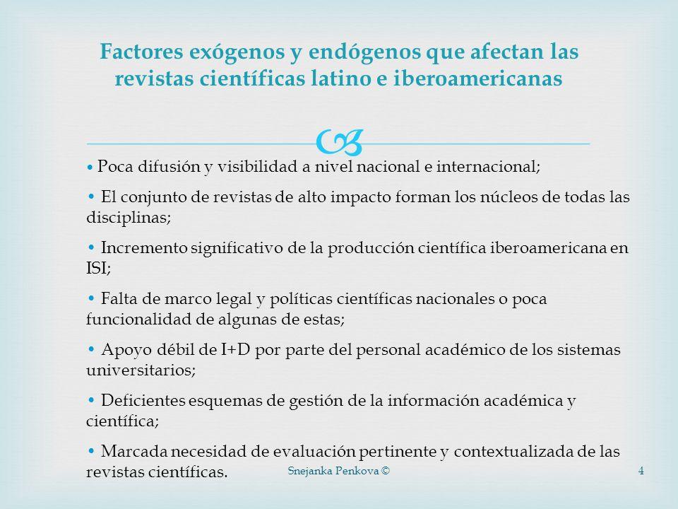 Factores exógenos y endógenos que afectan las revistas científicas latino e iberoamericanas