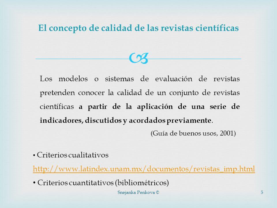 El concepto de calidad de las revistas científicas