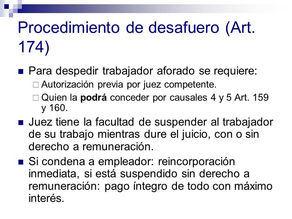 Procedimiento de desafuero (Art. 174)