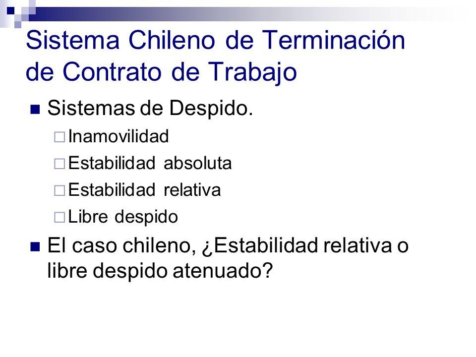 Sistema Chileno de Terminación de Contrato de Trabajo