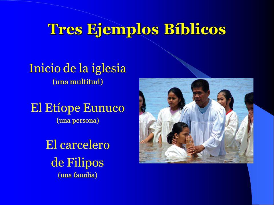 Tres Ejemplos Bíblicos