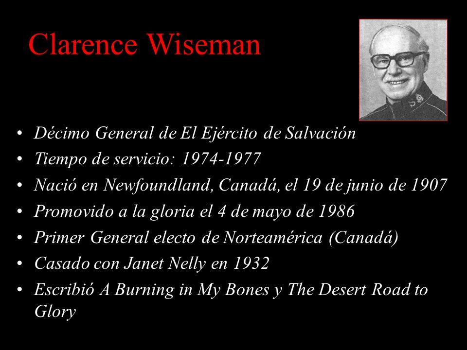 Clarence Wiseman Décimo General de El Ejército de Salvación