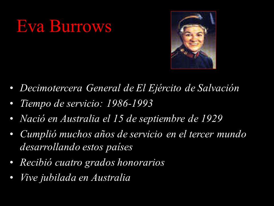 Eva Burrows Decimotercera General de El Ejército de Salvación
