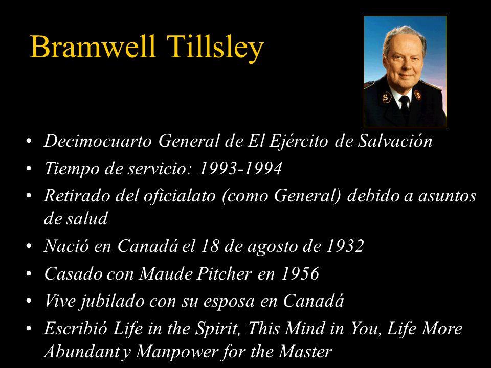 Bramwell Tillsley Decimocuarto General de El Ejército de Salvación