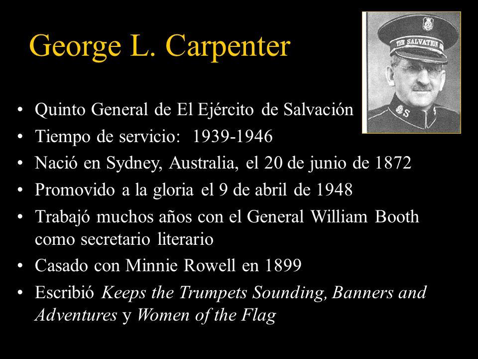 George L. Carpenter Quinto General de El Ejército de Salvación