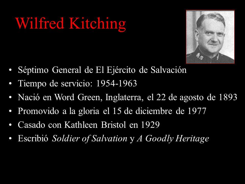 Wilfred Kitching Séptimo General de El Ejército de Salvación