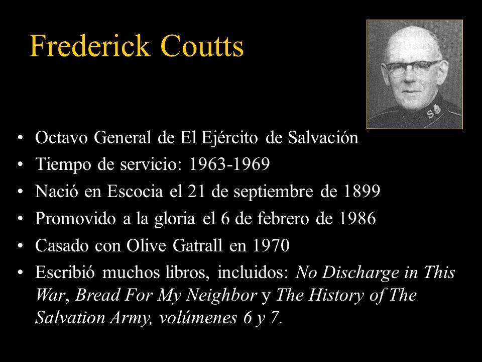 Frederick Coutts Octavo General de El Ejército de Salvación