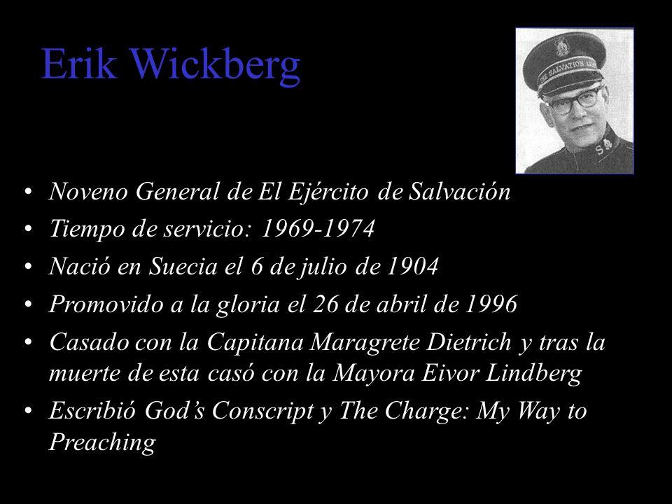Erik Wickberg Noveno General de El Ejército de Salvación