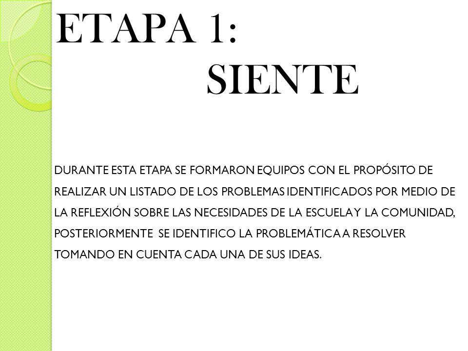 ETAPA 1: SIENTE.