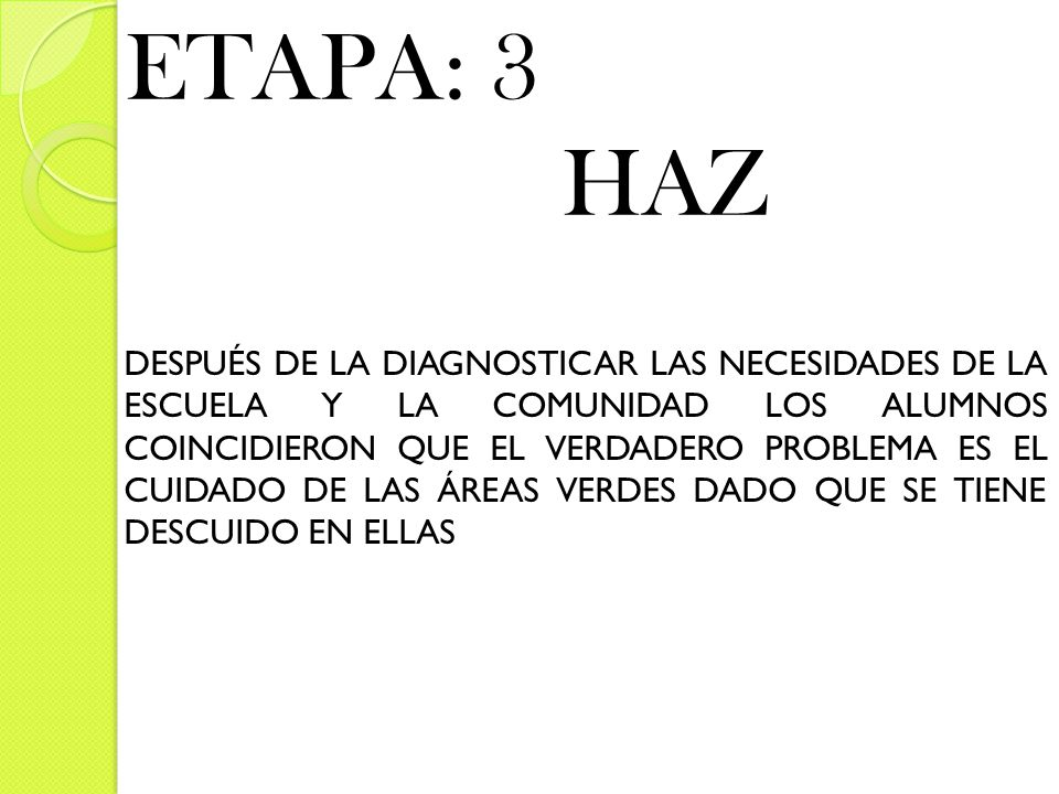 ETAPA: 3 HAZ.