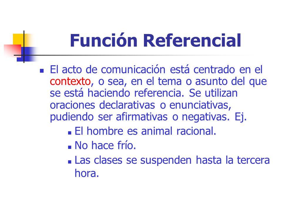 Función Referencial
