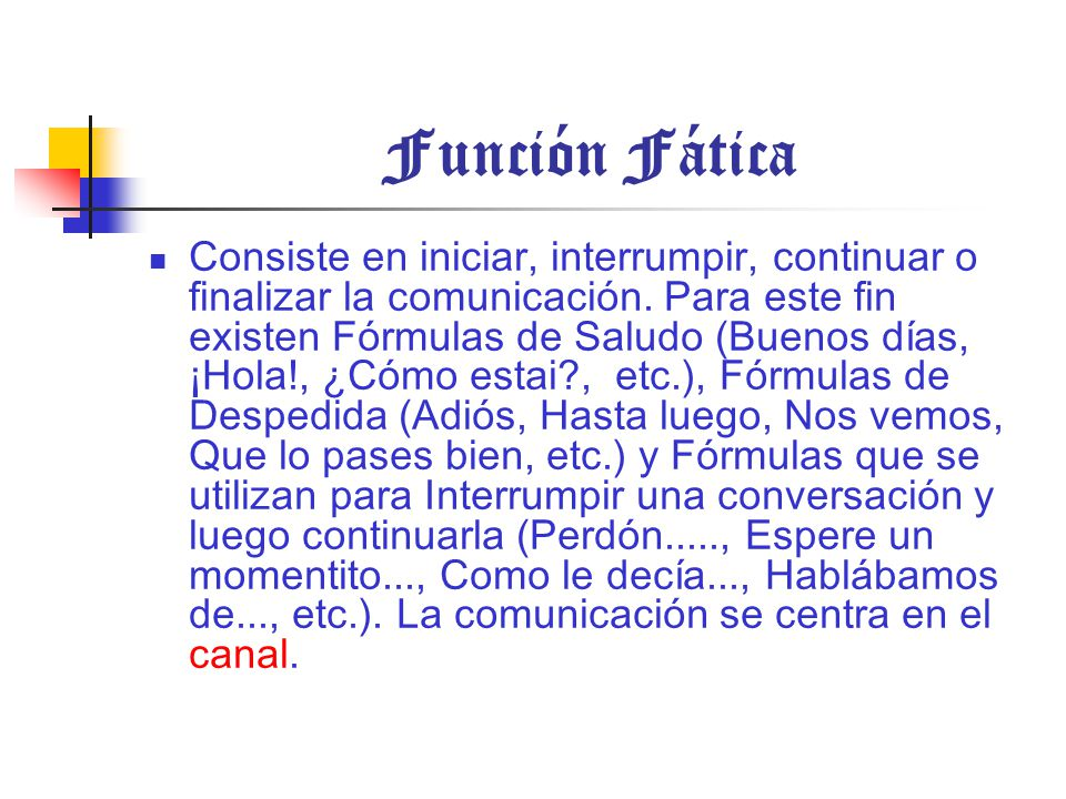 Función Fática