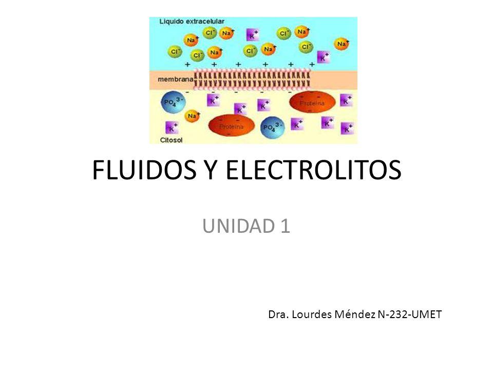 FLUIDOS Y ELECTROLITOS