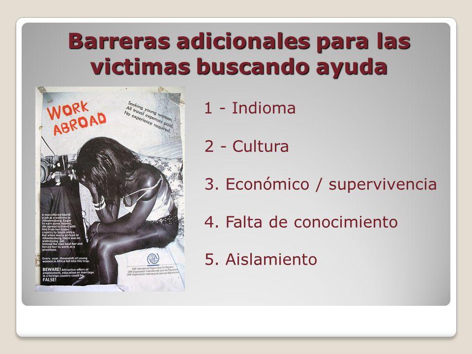 Barreras adicionales para las victimas buscando ayuda