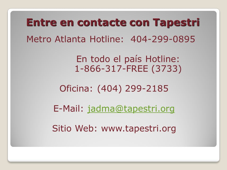 Entre en contacte con Tapestri
