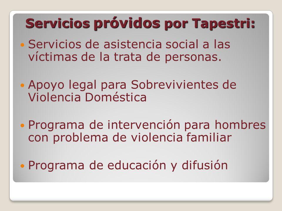 Servicios próvidos por Tapestri:
