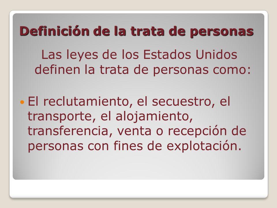 Definición de la trata de personas