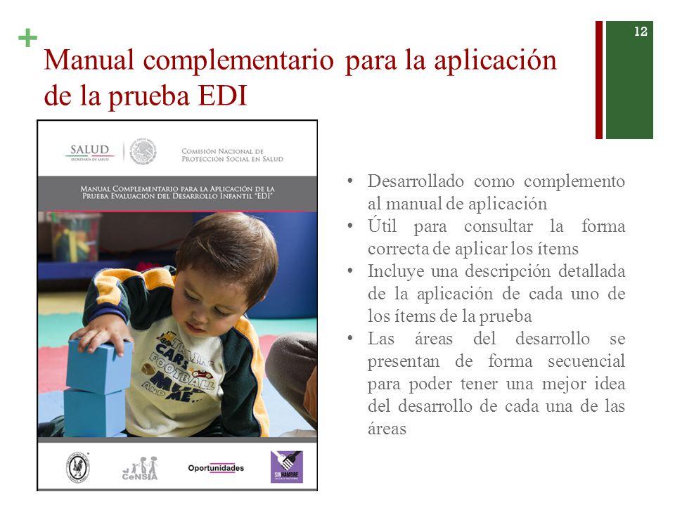 Manual complementario para la aplicación de la prueba EDI