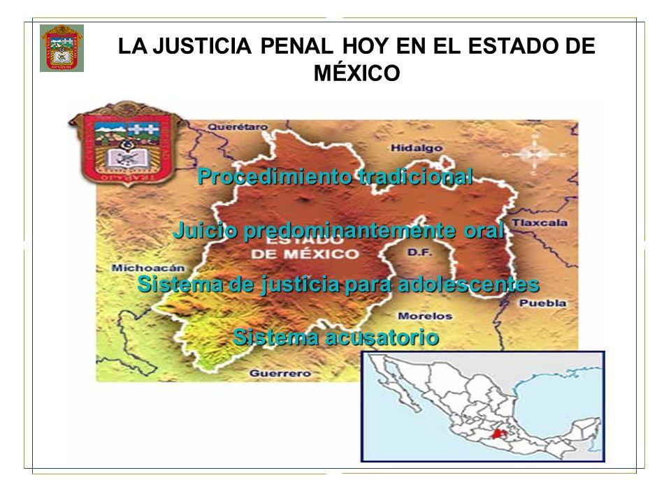 LA JUSTICIA PENAL HOY EN EL ESTADO DE MÉXICO