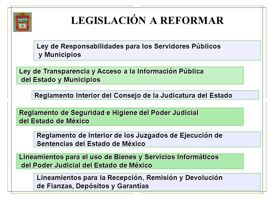 LEGISLACIÓN A REFORMAR