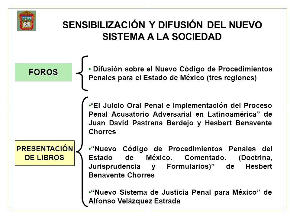 SENSIBILIZACIÓN Y DIFUSIÓN DEL NUEVO SISTEMA A LA SOCIEDAD