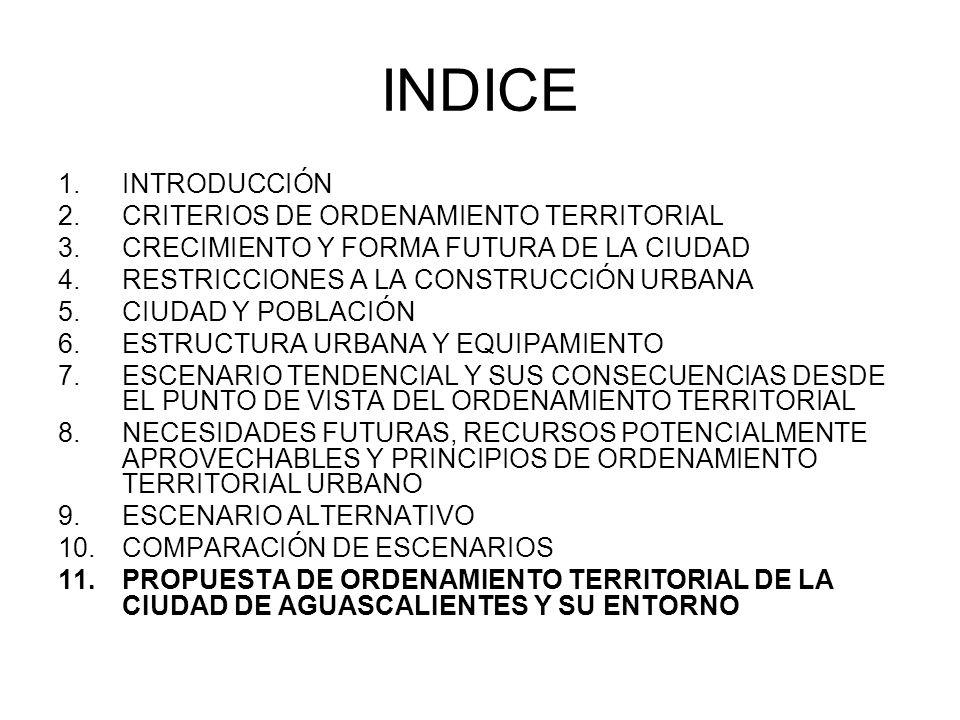 INDICE INTRODUCCIÓN CRITERIOS DE ORDENAMIENTO TERRITORIAL