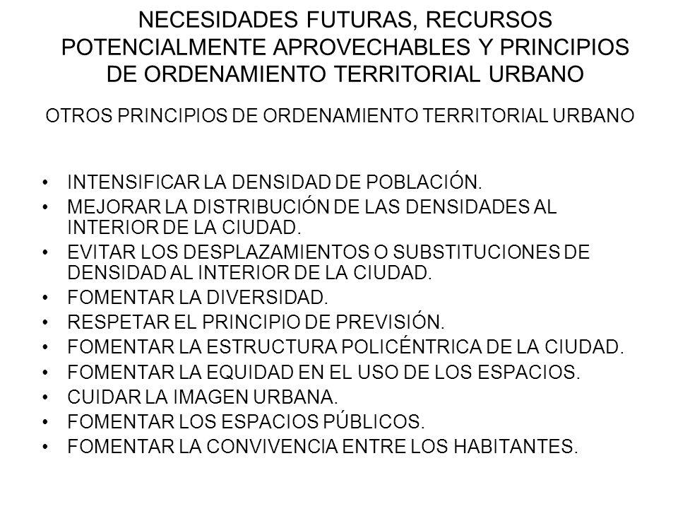 OTROS PRINCIPIOS DE ORDENAMIENTO TERRITORIAL URBANO