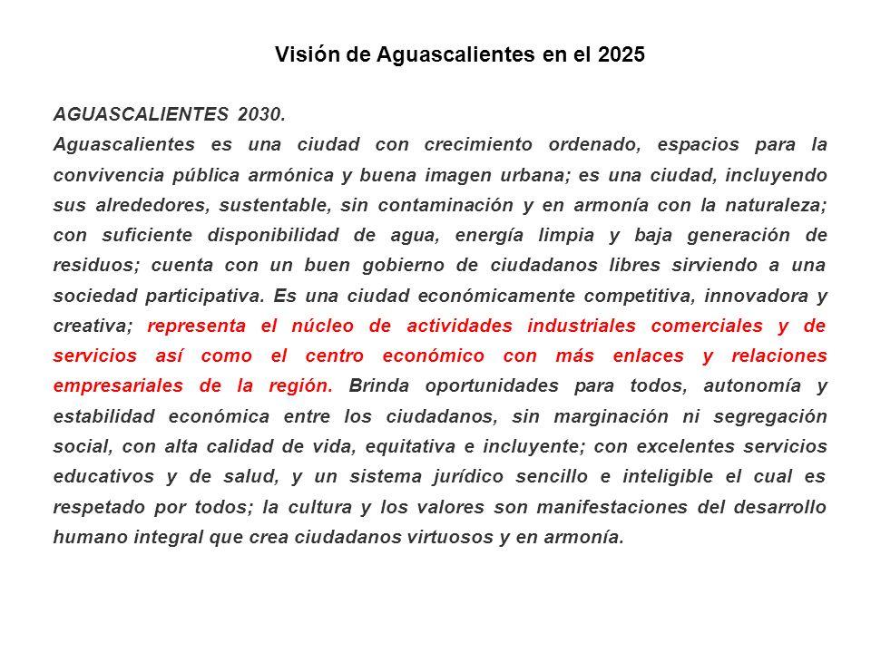Visión de Aguascalientes en el 2025
