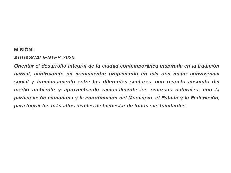 MISIÓN: AGUASCALIENTES 2030.
