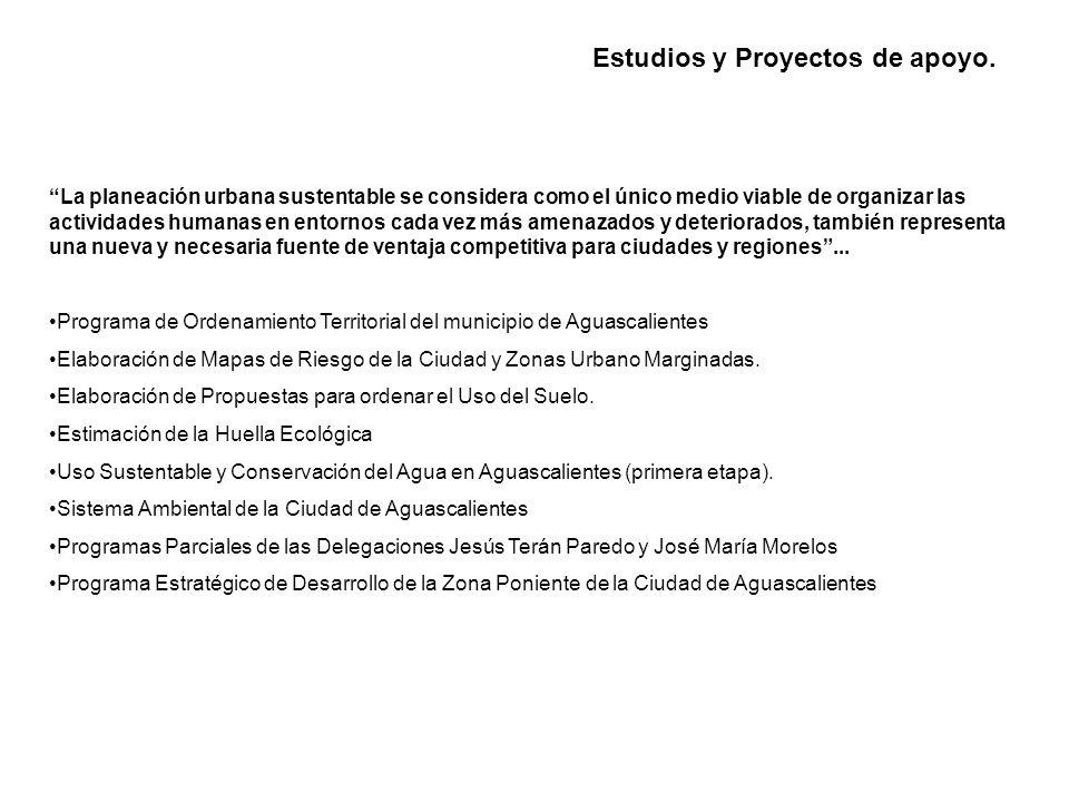 Estudios y Proyectos de apoyo.