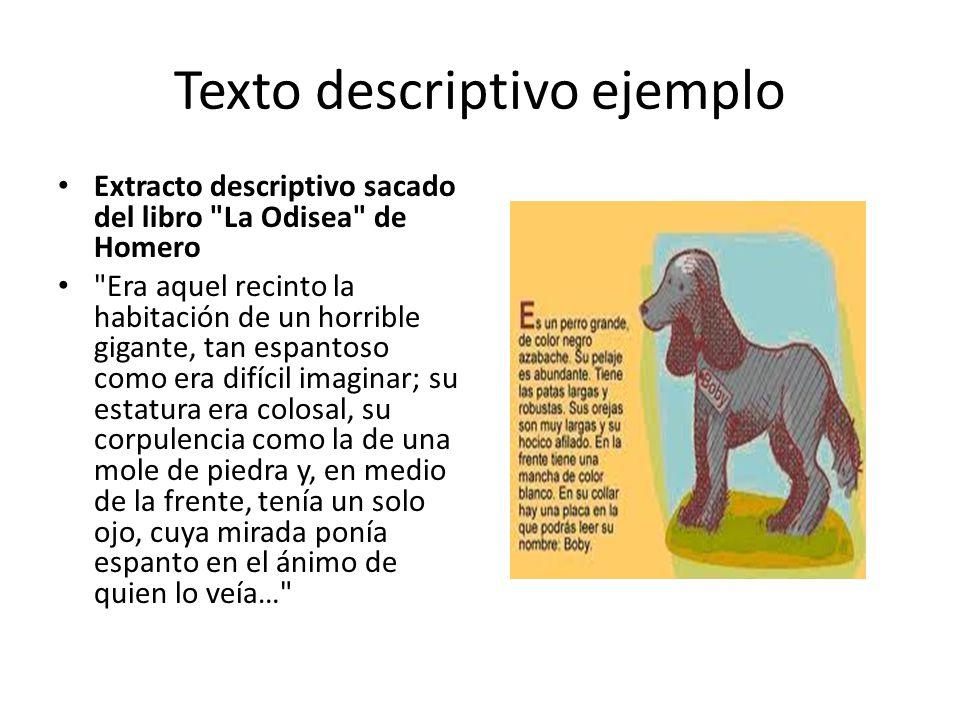 Texto descriptivo ejemplo