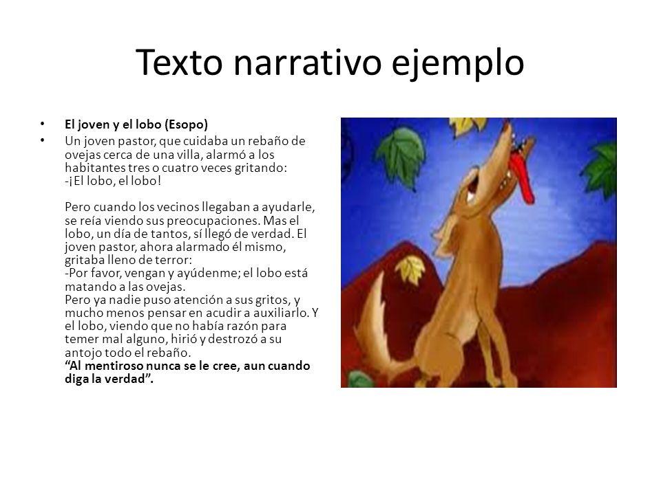 Texto narrativo ejemplo