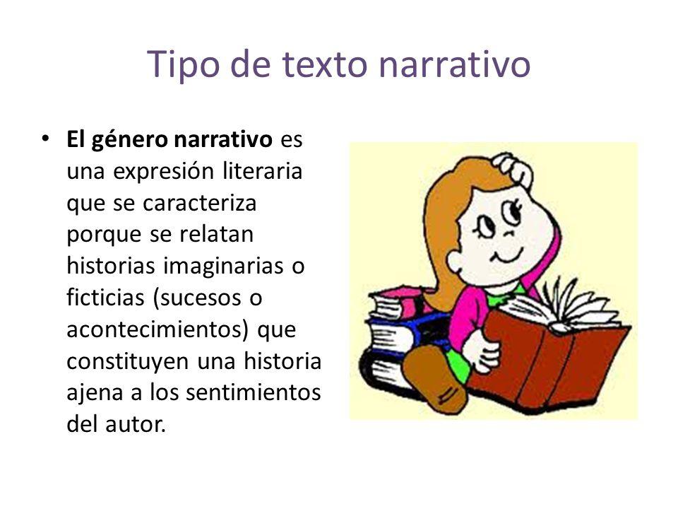 Tipo de texto narrativo