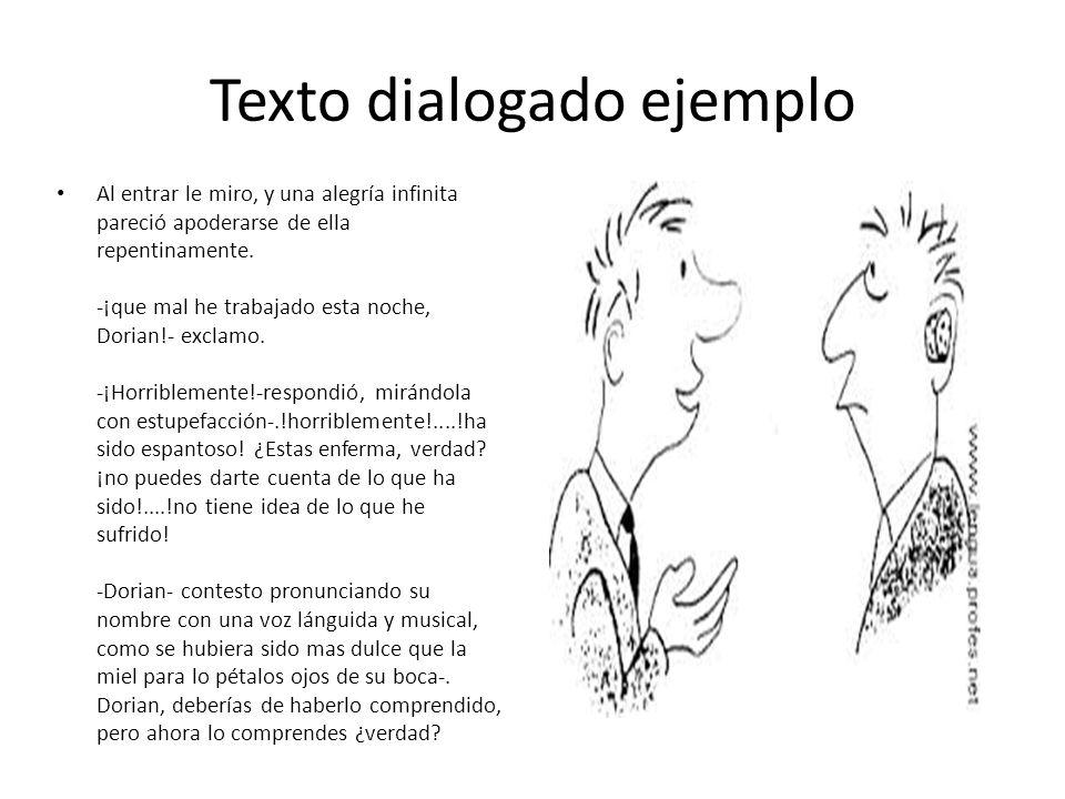 Texto dialogado ejemplo