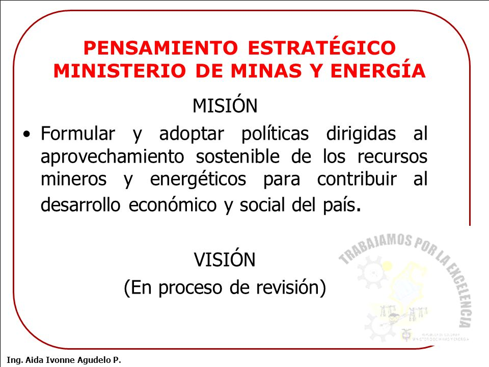 Administracion de riesgos ministerio de minas y energia for Ministerio de minas
