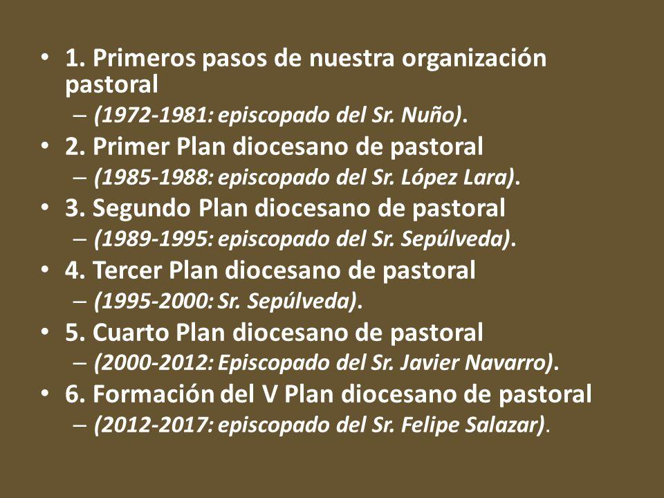 1. Primeros pasos de nuestra organización pastoral