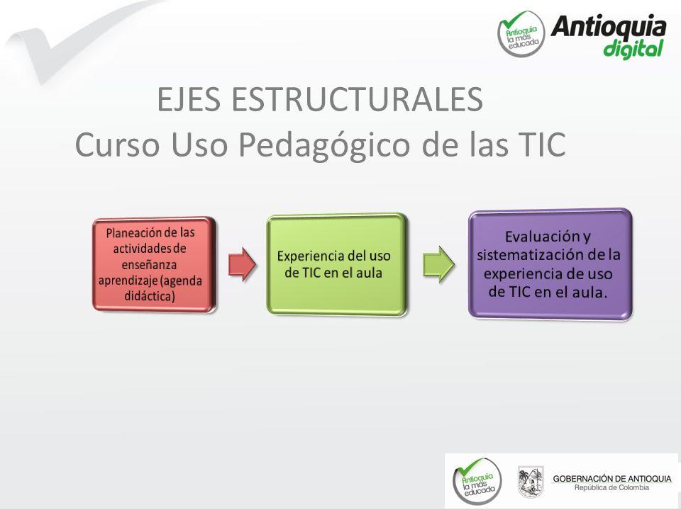 EJES ESTRUCTURALES Curso Uso Pedagógico de las TIC