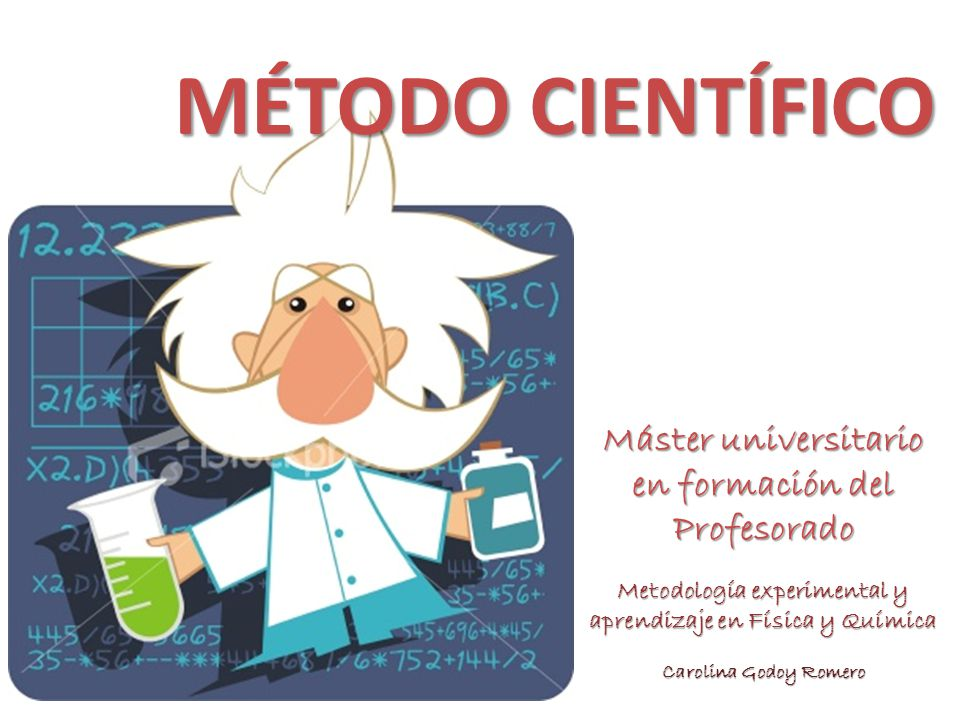 Metodología experimental y aprendizaje en Física y Química