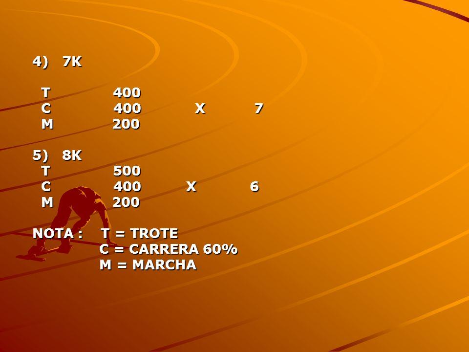 4) 7K T 400. C 400 X 7. M 200. 5) 8K.