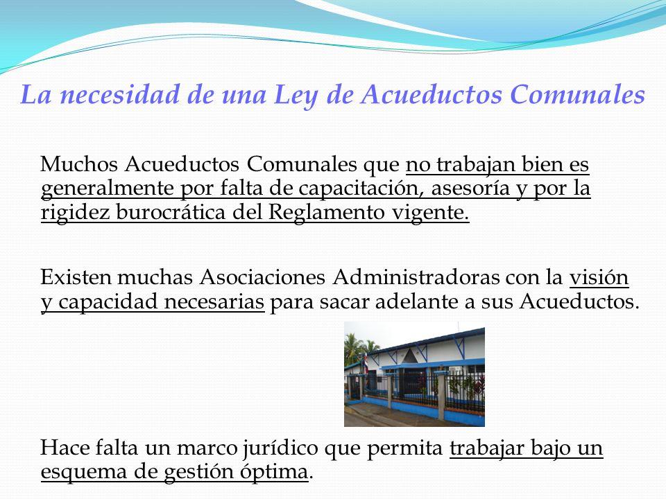 La necesidad de una Ley de Acueductos Comunales