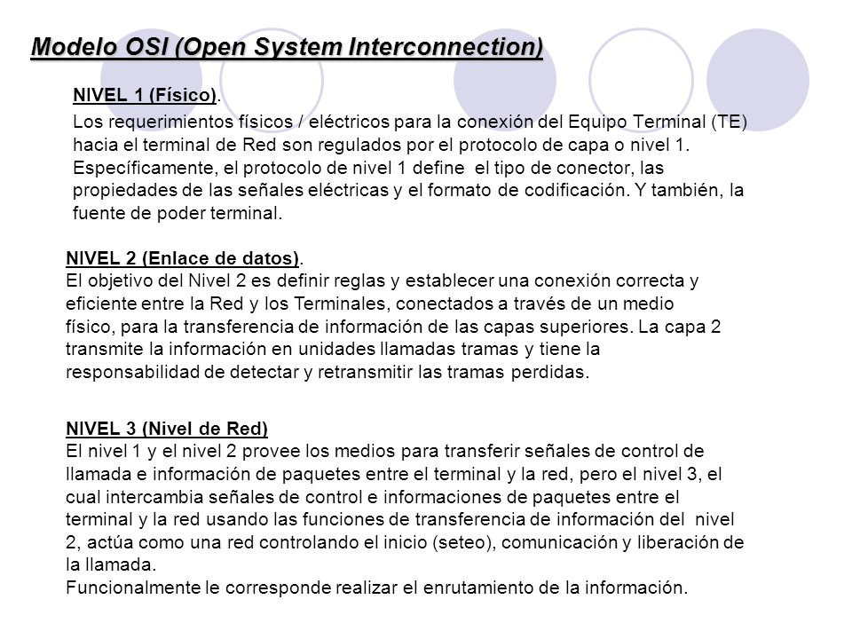 Modelo OSI (Open System Interconnection)