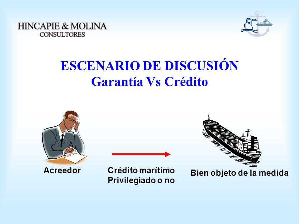 ESCENARIO DE DISCUSIÓN Garantía Vs Crédito