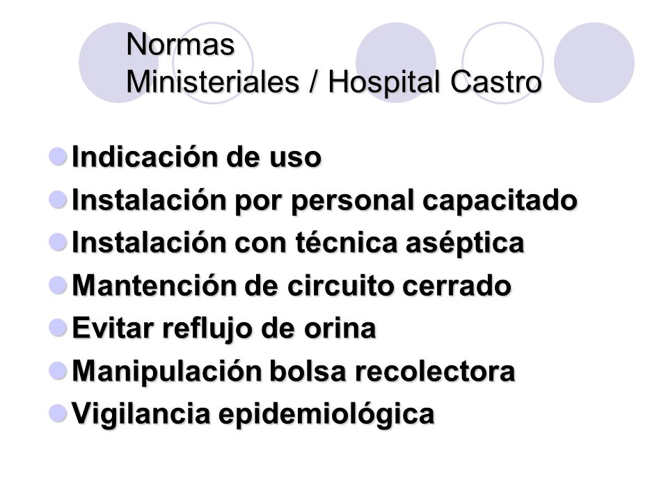 Normas Ministeriales / Hospital Castro