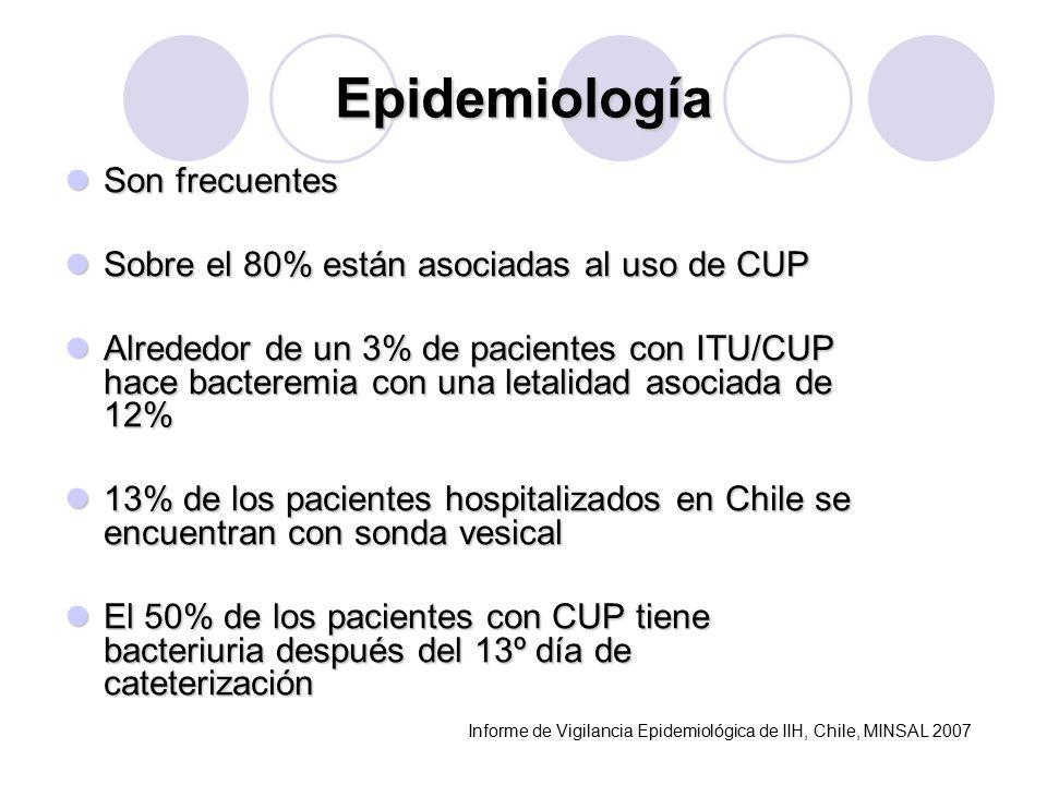 Epidemiología Son frecuentes