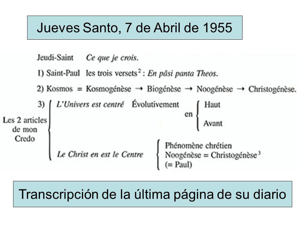 Jueves Santo, 7 de Abril de 1955