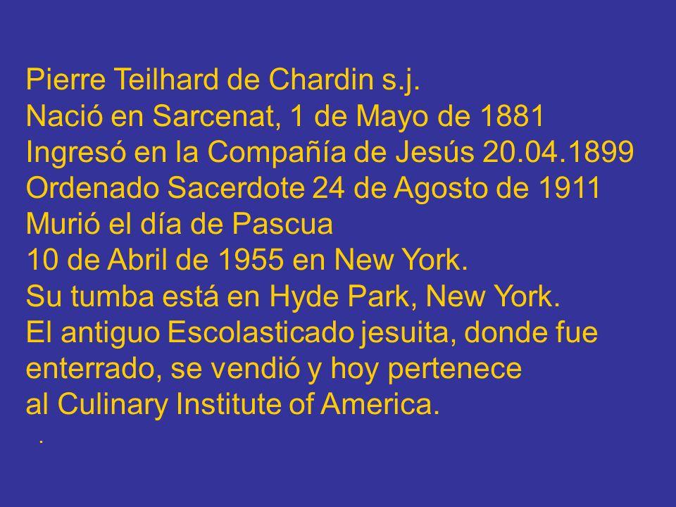 Pierre Teilhard de Chardin s.j.