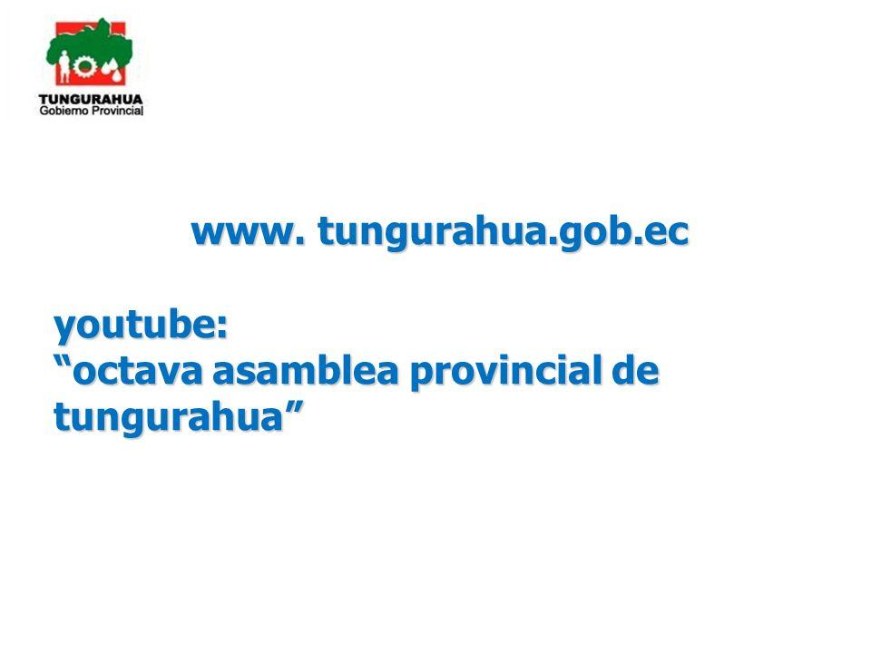 octava asamblea provincial de tungurahua